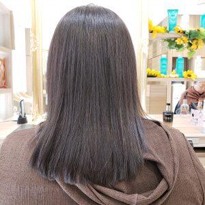 仕上がった写真 髪質改善縮毛矯正