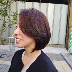 ロングボブ 綺麗な女性 大人の女性髪型
